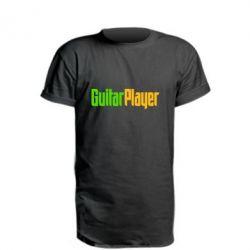 Удлиненная футболка Guitar Player - FatLine