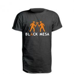 Удлиненная футболка Half Life Black Mesa - FatLine