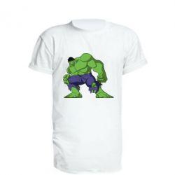 Удлиненная футболка Халк
