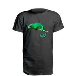 Удлиненная футболка Хамелеон