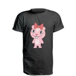Удлиненная футболка happy tree friends giggles - FatLine
