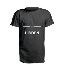 Подовжена футболка Hidden