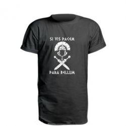 Удлиненная футболка Хочешь мира — готовься к войне