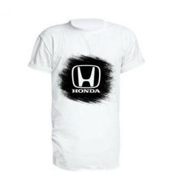 Удлиненная футболка Хонда арт, Honda art - FatLine