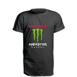 Удлиненная футболка Honda Monster Energy