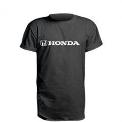 Удлиненная футболка Honda Small Logo