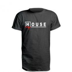 Подовжена футболка House