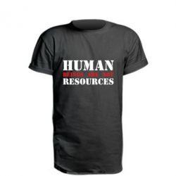 Подовжена футболка Human beings are not resources