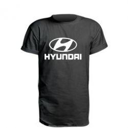 Удлиненная футболка HYUNDAI