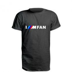 Подовжена футболка I am FAN