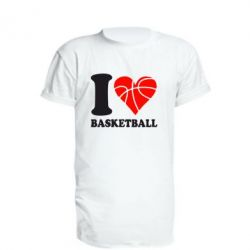 Удлиненная футболка I love basketball