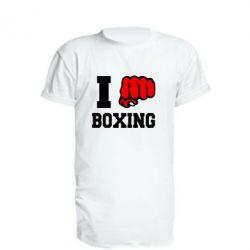 Удлиненная футболка I love boxing