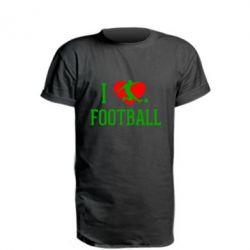 Подовжена футболка I love football