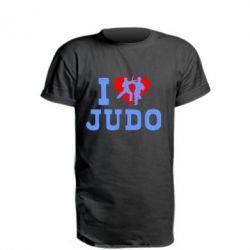 Удлиненная футболка I love Judo