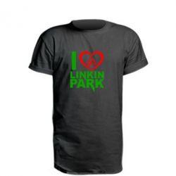Подовжена футболка I love LP