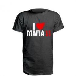 Удлиненная футболка I love Mafia 2
