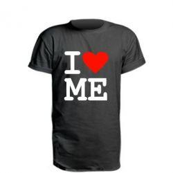 Удлиненная футболка I love ME - FatLine