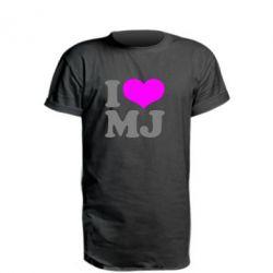 Подовжена футболка I love MJ