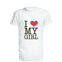 Удлиненная футболка I love my girl, FatLine  - купить со скидкой