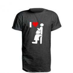 Подовжена футболка I love oral