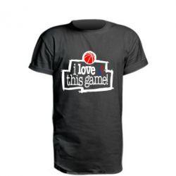 Удлиненная футболка I love this Game