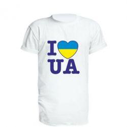 Удлиненная футболка I love UA