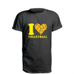 Подовжена футболка I love volleyball