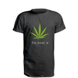 Удлиненная футболка I'm lovin it!