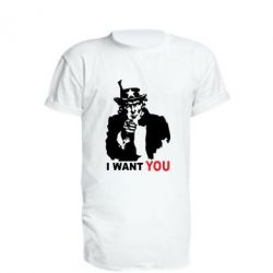 Удлиненная футболка I want you (uncle Sam) - FatLine