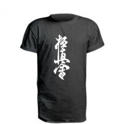 Удлиненная футболка Иероглиф - FatLine