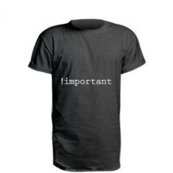 Удлиненная футболка !important - FatLine
