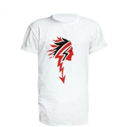 Подовжена футболка індіанець