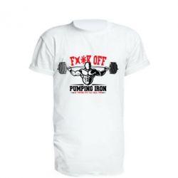 Удлиненная футболка Iron Pumping