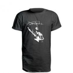Удлиненная футболка Jimi Hendrix афтограф