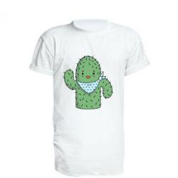 Удлиненная футболка Кактус