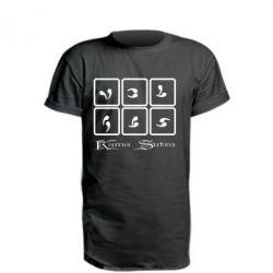 Удлиненная футболка Kama Sutra позы - FatLine