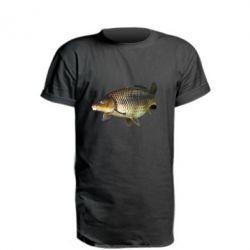 Удлиненная футболка Карасик