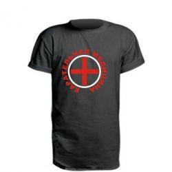Удлиненная футболка Карательная медицина лого