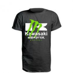 Купить Удлиненная футболка Kawasaki Monster Energy, FatLine