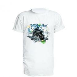 Купить Удлиненная футболка Kawasaki Ninja Art, FatLine