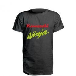 Купить Удлиненная футболка Kawasaki Ninja, FatLine