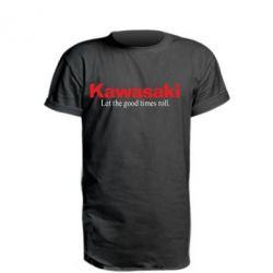 Подовжена футболка Kawasaki. Let the good times roll.