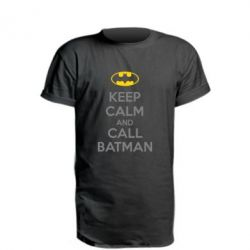 Удлиненная футболка KEEP CALM and CALL BATMAN