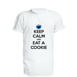 Удлиненная футболка Keep Calm and Eat a cookie