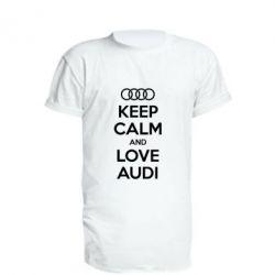 Удлиненная футболка Keep Calm and Love Audi