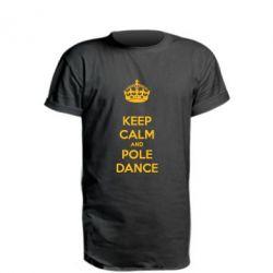 Удлиненная футболка KEEP CALM and pole dance