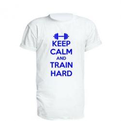 Удлиненная футболка KEEP CALM and TRAIN HARD