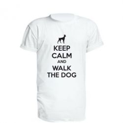 Подовжена футболка KEEP CALM and WALK THE DOG