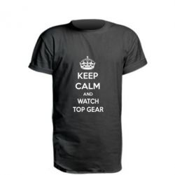 Удлиненная футболка KEEP CALM and WATCH TOP GEAR - FatLine
