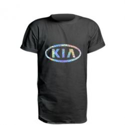 Удлиненная футболка KIA logo Голограмма